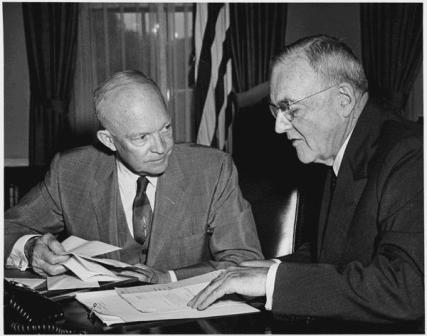 President Eisenhower and John Foster Dulles 1956.