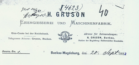 Letter from the Gruson Factory