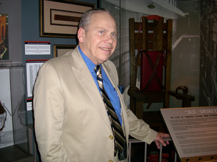 Fred Leuchter at museum
