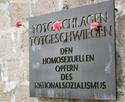 Plaque for homosexual victims of Holocaust