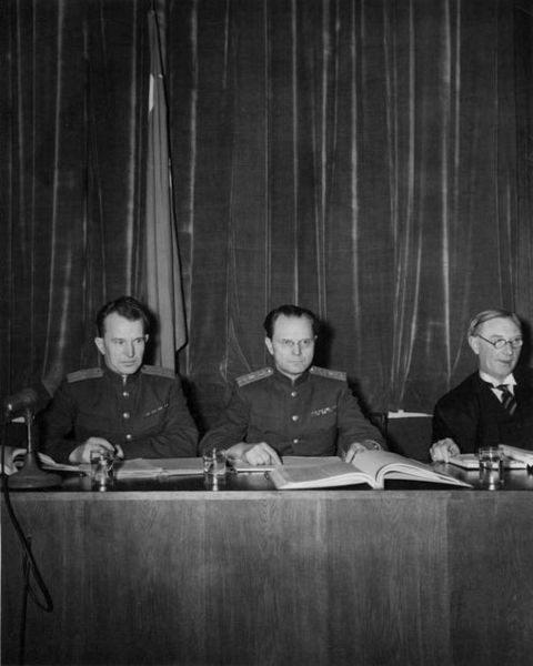 Russian Judges at Nuremberg Trials
