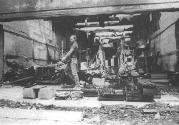 IHR offices folliwng firebombing 1984