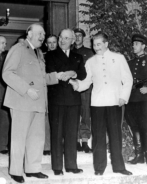 Churchill with Stalin at Potsdam