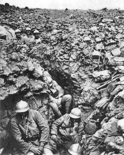 French Troops at the battle of Verdun