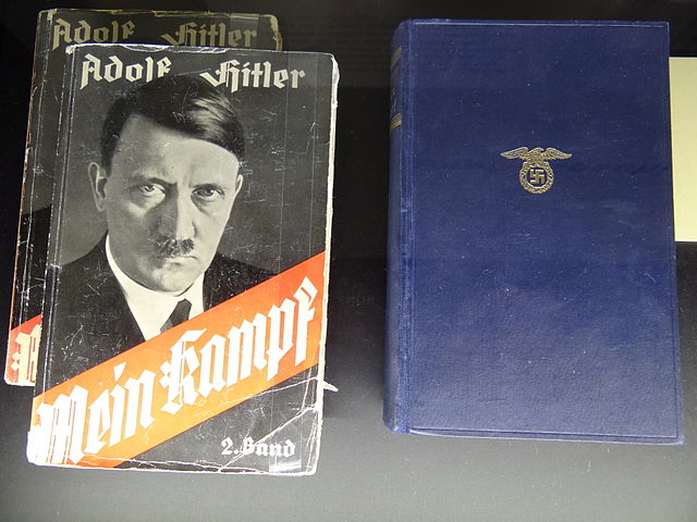 Display copies of Hitler's Mein Kampf