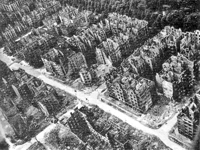 Hamburg in 1943 following Allied firebombing