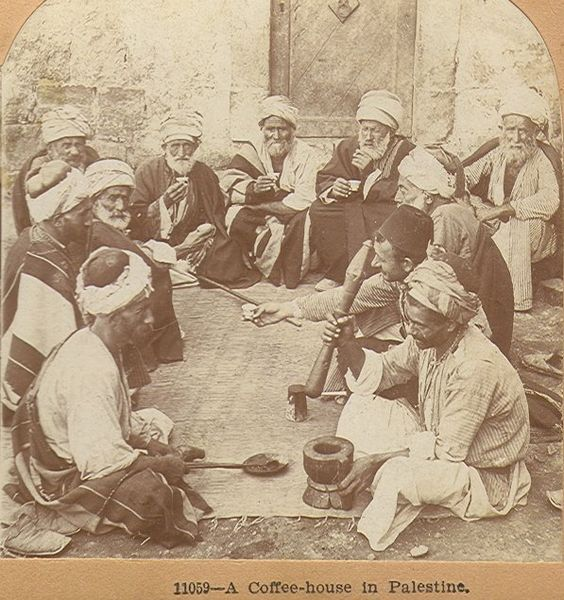Palestinians in Coffee house