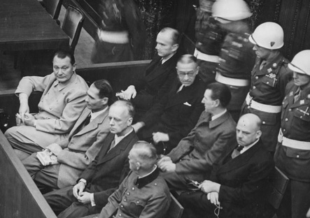 Defendants at the Nuremberg Trials, 1946