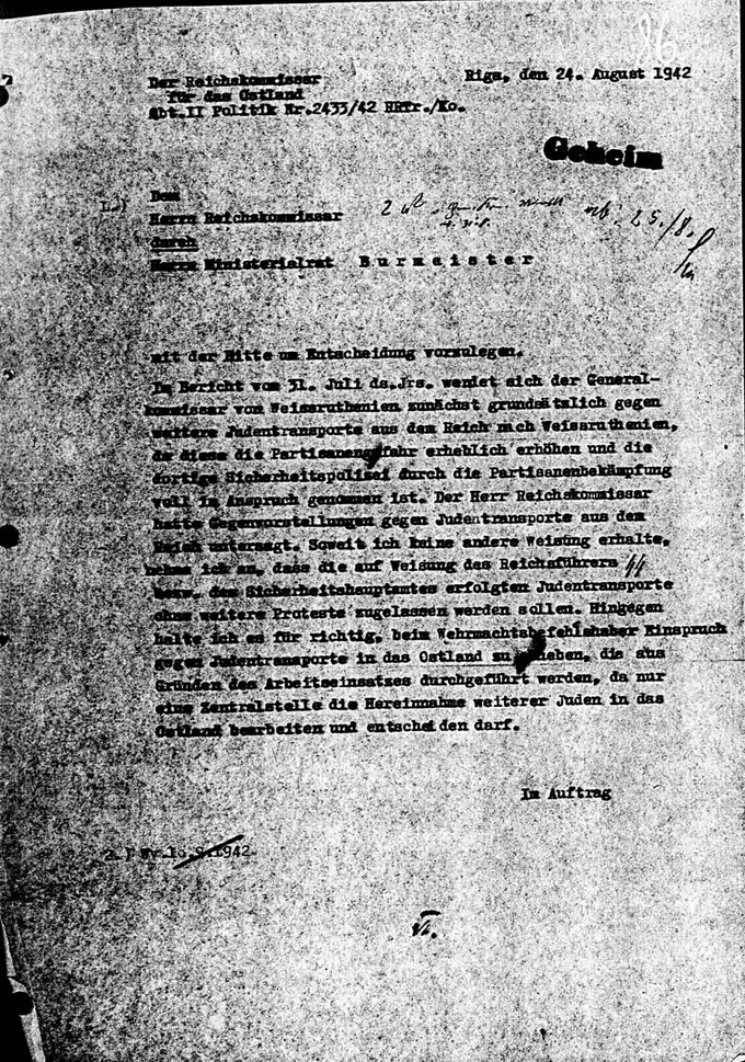 Lohse's letter from 24 August
