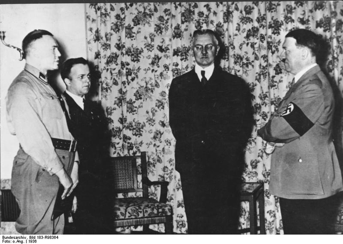 Hjalmar Schacht with Adolf Hitler
