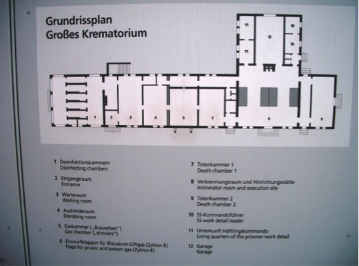Dachau Crematorium floor plan