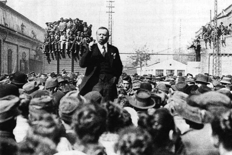 Béla Kun, leader of the 1919 Hungarian Revolution By Hungarian photographer [Public domain], via Wikimedia Commons
